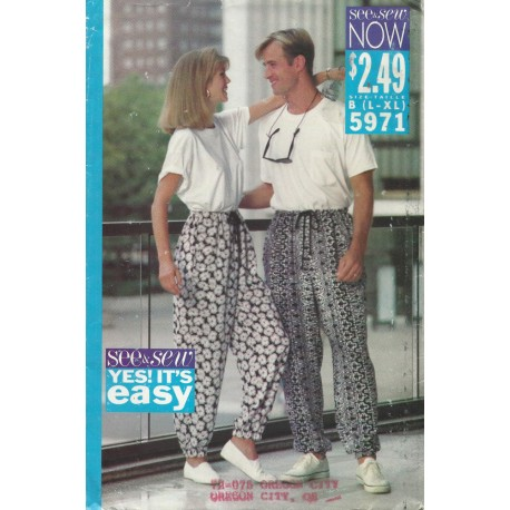 Unisex Pull On Pants Pattern 5971