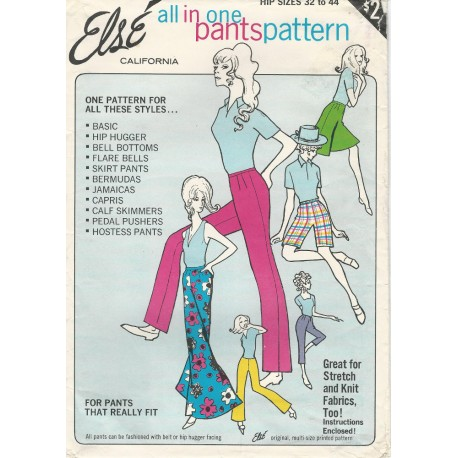 Else Womens Pants Pattern 1960s