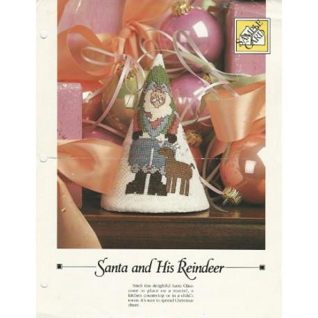 Santa Reindeer Cross Stitch Pattern
