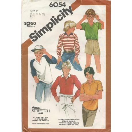 Boy's Shirt Sewing Pattern 6054