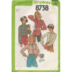 Women's Blouse Pattern 8738