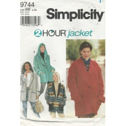 Simplicity 2 Hour Jacket 9744