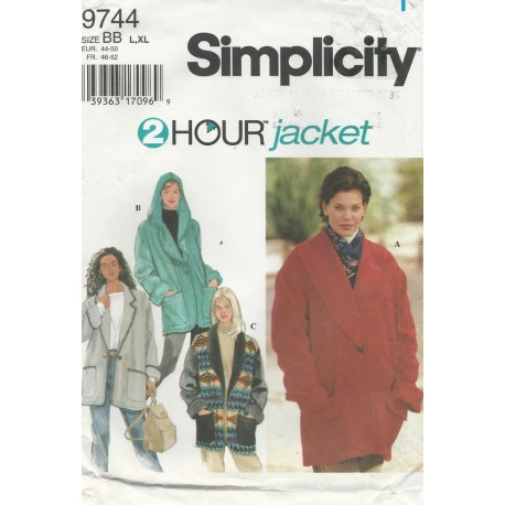 Simplicity 2 Hour Jacket 9744