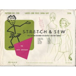 Swimsuit Pattern Stretch Sew 1300