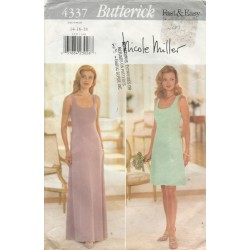 Butterick 4337 A-Line Dress Pattern