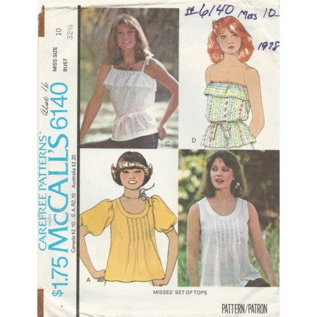 1970's Women's Shirt Top 6140