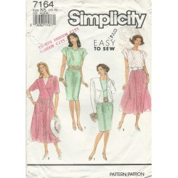 Dress Jacket Pattern Simplicity 7164