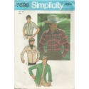 1970s Mens Shirt Pattern 7698