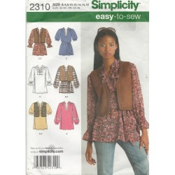 Tunic Shirt Vest Pattern 2310