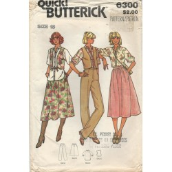Butterick Skirt Pants Top Vest 6300