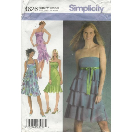Party Dress Pattern Simplicity 4626