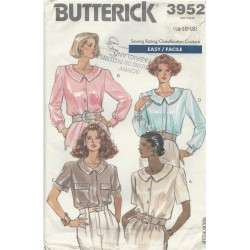 Shirt Blouse Pattern Butterick 3952