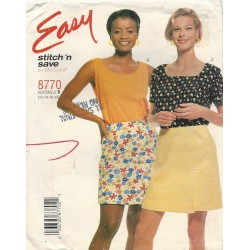 Skort Top Pattern McCalls 8770