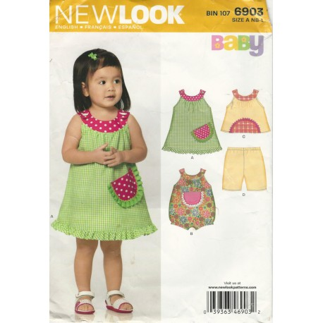 Dress Romper Shorts Pattern 6903