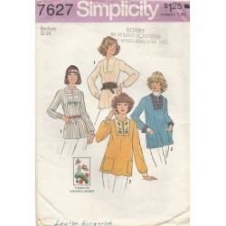 1970s Pullover Top Pattern 7627